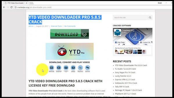YTD Video Downloader Pro Crack 5.9.18.3 + Free Download 2020