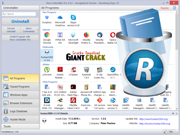 Revo Uninstaller Pro Crack 4.3.3 + Keygen Latest Version 2020